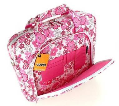 torba na laptop różowa