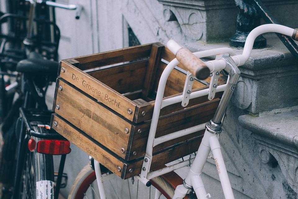 rower zakupy koszyk